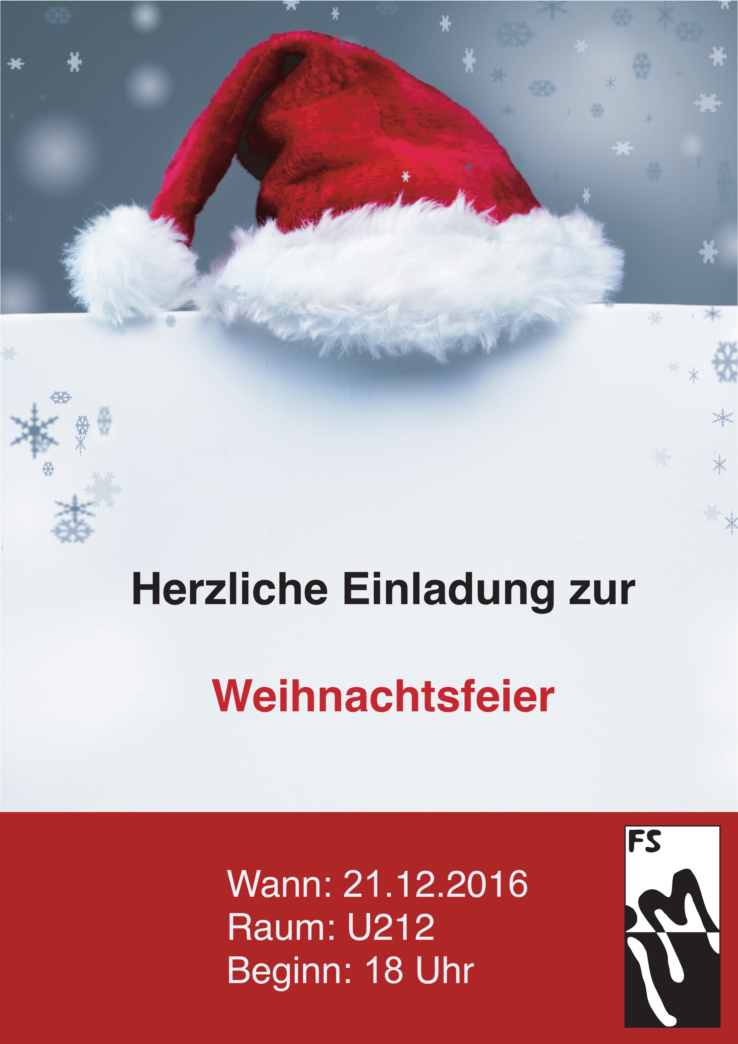 Weihnachtsfeier Plakat.Weihnachtsfeier Der Fsim Am Mittwoch Fsim E V